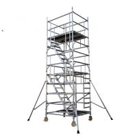 Buy cheap Movable Aluminum Scaffold Platform With Wheel And Brake Anti  Slip product
