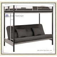 Buy cheap Hot Sale Home Furniture Cheap Metal Twin Over Futon Full Bunk Bed, Black from wholesalers