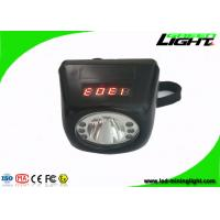 Buy cheap Black Miner Safety Cap Lamp Cree 3W LED Cordless Headlight with LI-ion Battery LCD Display product