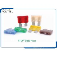 Buy cheap PA66 Auto Blade Fuse , Automotive Industry ATOF 32V Series ATOF Medium Blade Fuse Rated 32V 1-40A Replaces 257 ATO product