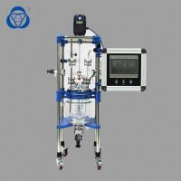 Buy cheap PLC Double Jacket Lab Glass Reactor Explosion Proof Design For Alcohol Distillation product