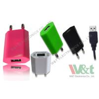Buy cheap 2 Pin Plug Portable Mini AC DC USB Charger For Bluetooth Speaker , CB / KC / GS Approved product