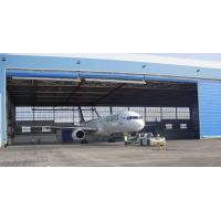 Quality Single Bay PEB Steel Aircraft Hangars With Electrical Roll-up Doors for sale
