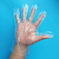 China Disposable Clear Polythene PE Gloves / Plastic Food Safe Cleaning Glove For Cooking on sale