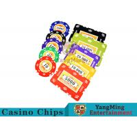 Buy cheap 760pcs 12g Sticker Pure Clay Poker Chip Sets With Number And UV logo product