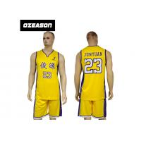 Buy cheap Polyester Dry Fit Sublimation Custom Latest Basketball Jersey Design product