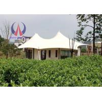 Quality Prefabricated Luxury Tent Hotel With Membrane Roof Simple Decoration for sale