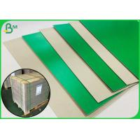 China 1.2MM Green Colored Book Binding Board For Making File Box Or File Holder on sale