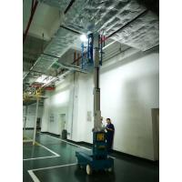Buy cheap 6m Compact Electric Aluminum Vertical Mast Lift Single Mast Aerial Work Platform Manlift product