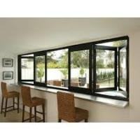 Buy cheap Residential Aluminum Bifold Windows With Black Or Customized Color Heat Insulating product