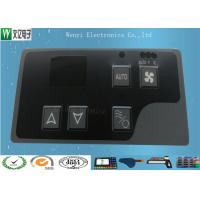 Buy cheap Gray Window Square Pillow Embossing Membrane Switch Overlay 3M 467 Back Adhesive product