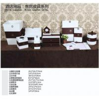 Quality PVC lather desk sets in hotel and office for sale