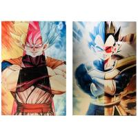 Buy cheap 3D Flip Lenticular Anime Poster Printing Dragon Ball / 3 Dimensional Pictures product
