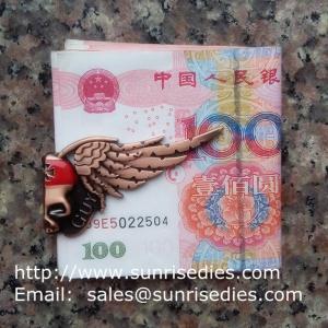 Buy cheap Halloween Skull Bat Magnetic Folding Metal Money Clip, batman fold magnet money clip product