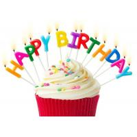 Buy cheap 7 Colors Happy Birthday Candle Letters 13 Pcs For Party With Plastic Toothpick product