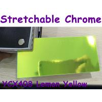 Buy cheap Stretchable Chrome Mirror Car Wrapping Vinyl Film - Chrome Lemon Yellow product
