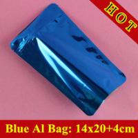 Buy cheap Glossy Blue Self Standing Ziplock Pouch For Whey Protein Powder Packaging / Protein Powder Bag product