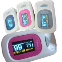 Buy cheap fingertip pulse oximete, monitor pulse rate and SPO2 with adjustable safety range product