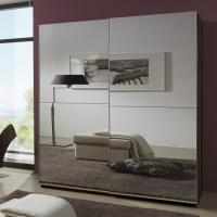 Buy cheap Simple Space Saving Melamine Bedroom Furniture Modern Luxury MDF With Two Full Mirror product