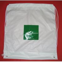 Quality White Lightweight Plastic Drawstring Backpack Bags For Mobile Phone / Handphone for sale