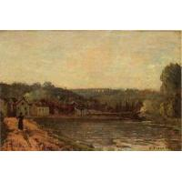 Buy cheap Impressionist(3830) The_Banks_of_the_Seine_at_Bougival product