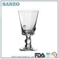 Buy cheap RW09030 Sanzo Handmade Glassware Manufacturer clear colored short thick stem wine glass product