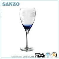 Buy cheap RW09148 Sanzo Handmade Glassware Manufacturer etched red wine glass product