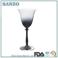 Buy cheap RW09367 Sanzo Handmade Glassware Manufacturer red wine glass with luster decoration product