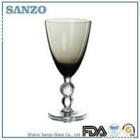 Buy cheap RW09032 Sanzo Glassware smoke gray colored wine glass with clear stem product