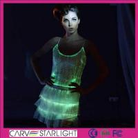 Buy cheap Light up women clothes YQ-09-24 luminous light skirt tops set product