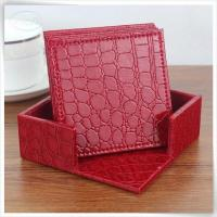 Buy cheap &Travel Organizer croco leather square in red product