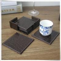 Buy cheap &Travel Organizer Brown crocodile leather coaster product