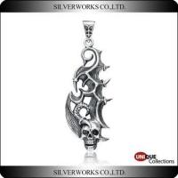 Buy cheap Antique S925 Sterling Silver charms Gothic Cool Men's Punk Skull Pendant product