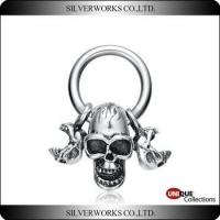 Buy cheap New arrival skull necklace pendant sets Punk Antique 925 sterling silver charms for men product