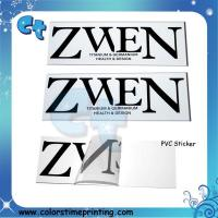 Buy cheap Pvc transparent clear adhesive stickers product