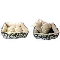 Buy cheap PetBed&PetBlanket B16314 Beige big leopard dog bed product