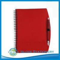 A5 Red PP Cover Spiral book with pen