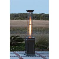 China A. Mocha Finish Square Flame Heater on sale
