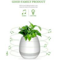 Buy cheap Wireless Bluetooth Speaker Smart Music Playing Flowerpot with Colorful Light Night product