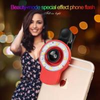 Buy cheap Selfie Ring Light 12 LED, Fish Eye Lens+0.65X Wide Angle Lens+10X Macro Lens for iPhone 7/6p/6 product
