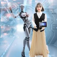 Buy cheap TPE Realistic AI Service Robots Guide / Education Market Welcome Robot from wholesalers