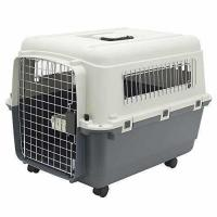 Buy cheap Plastic Kennels  Rolling Plastic Airline Approved Wire Door Travel Dog Crate, Medium product