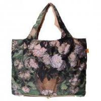 Buy cheap Foldable Environmental Shopping Bag Fashionable Famous Painting Bag Rose Vase Pattern product