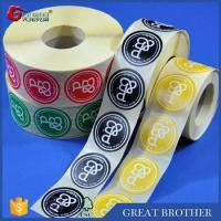 Buy cheap Rolls of labels and stickers for custom printing,round shape stickers product