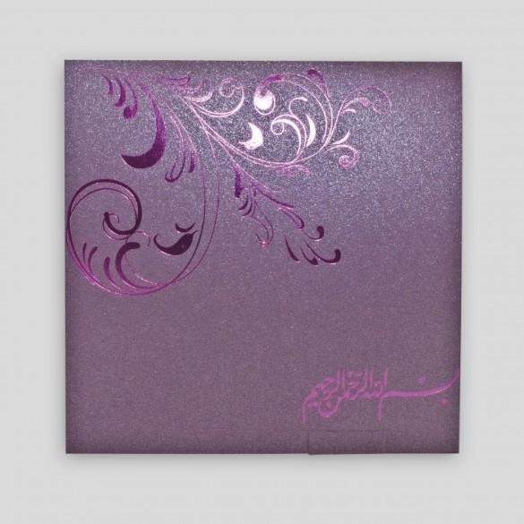 Quality XMT-C036 purple foil stamping greeting card & envelope printing for sale