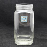 Buy cheap 400ml 750ml square glass jar with plastic lid for honey product