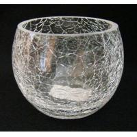 Buy cheap crackle glass candle holder product