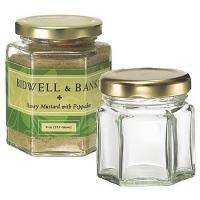 Buy cheap 45ml samll hexagon glass jar for baby food and screw lid product