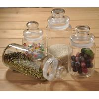 Buy cheap 285ml 660ml 1000ml big mouth storage glass jar with glass lid product