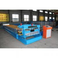 Buy cheap Metal galvanized glazed tile cold roll forming machine steel panel machine product